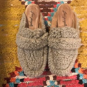 Free People furry loafer shoes